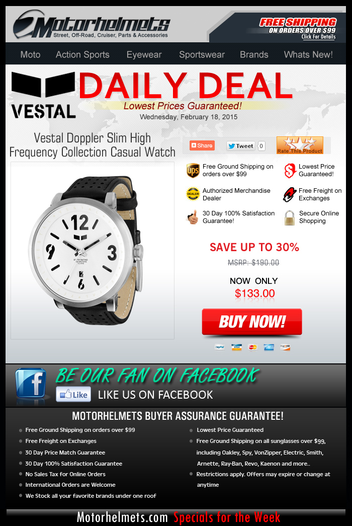 Midweek Special: 30% Savings on the Vestal Doppler Watch!