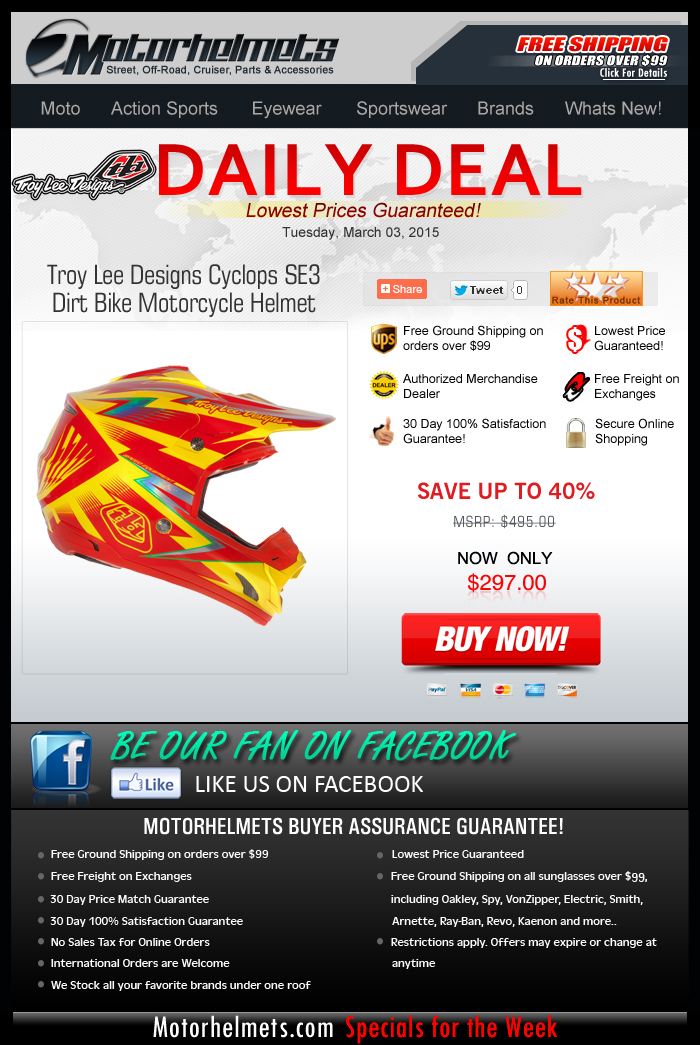 Nearly $200 Savings on the TLD Cyclops SE3 Helmet!