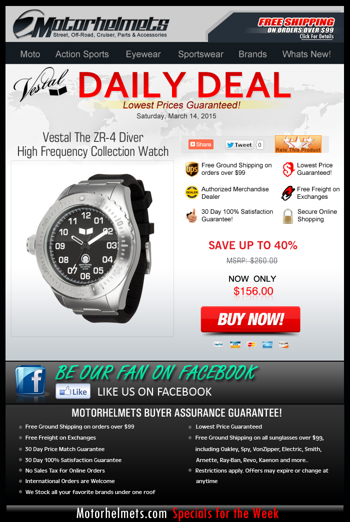Over $100 Discount on the Vestal ZR-4 Watch!