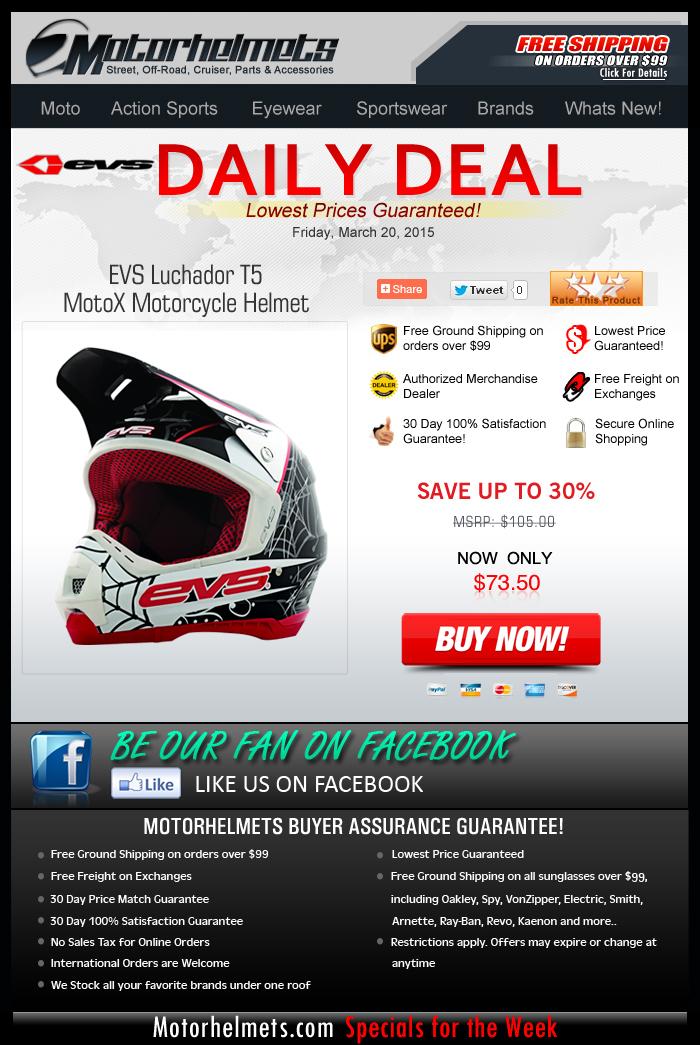 EVS Luchador T5 Helmet, now only $73.50!