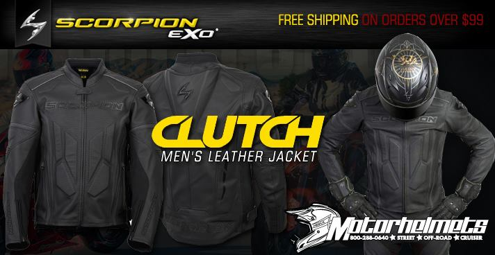 scorpion clutch leather  jacket