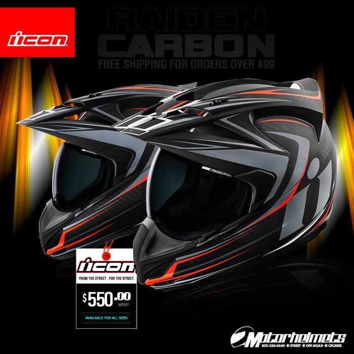 Icon Raiden Carbon Men's Variant Helmet