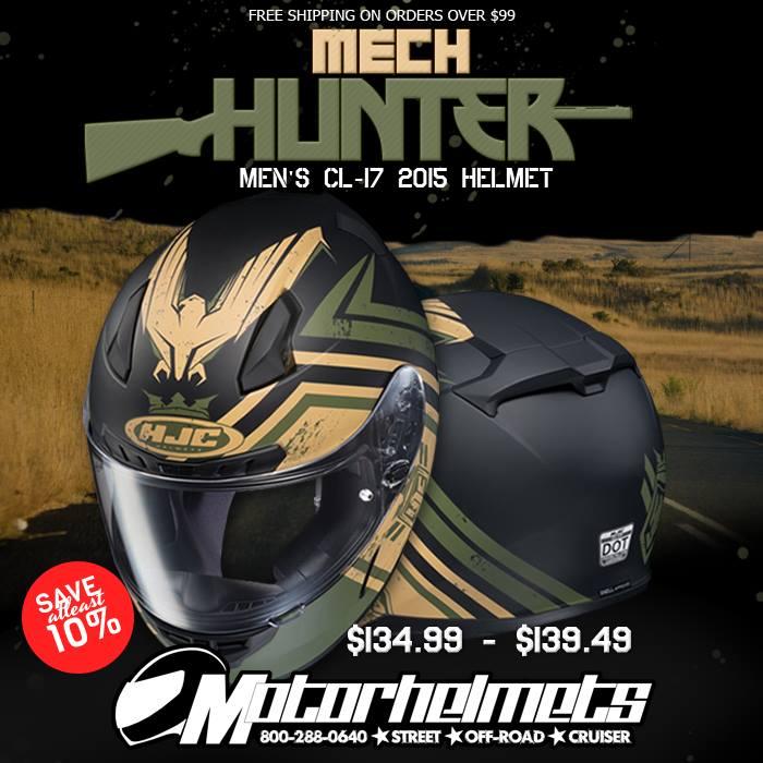 hjc mesh hunter cl-17 helmet
