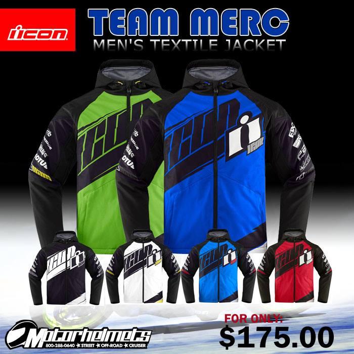 Icon Team Merc Men's Textile Street Bike Motorcycle Jacket