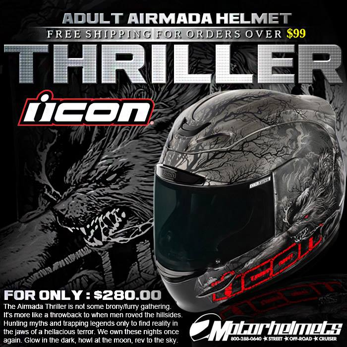 Icon Thriller Adult Airmada Helmet