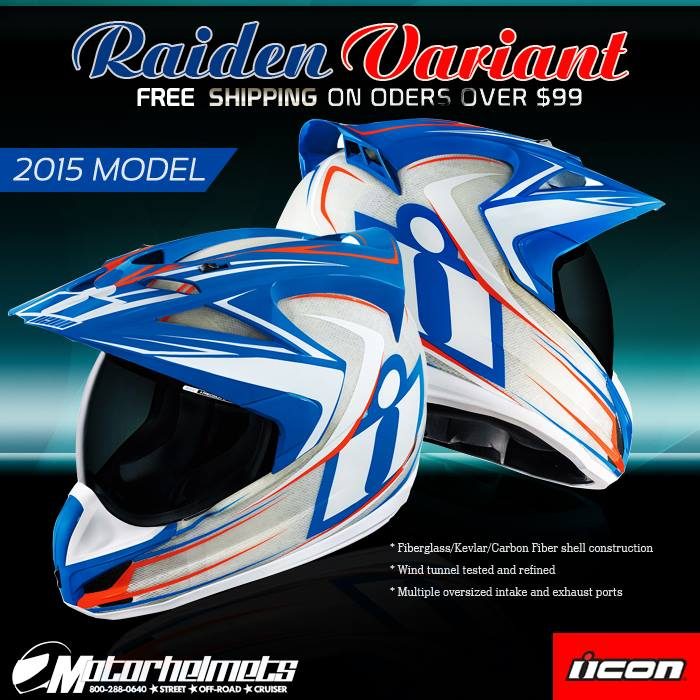 Raiden Men's Variant Motorcycle Helmet