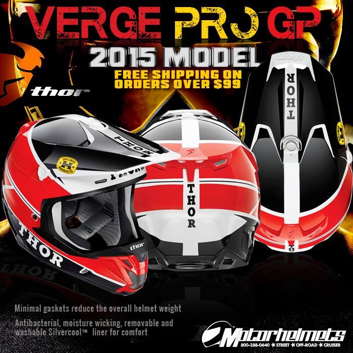 Thor MX Verge Pro GP  helmet