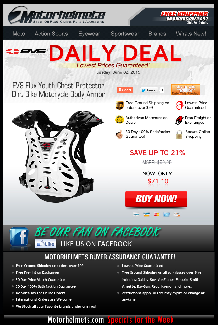Get 20% Discount on the EVS Flux Chest Protector!