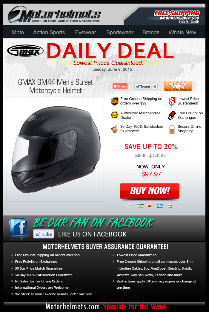 Need Street Helmets Under $100? Check out the GMAX GM44!
