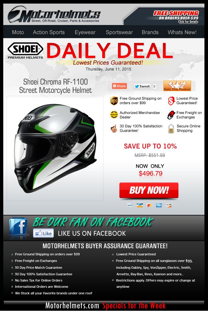 Save $50 on the Shoei Chroma Helmet!