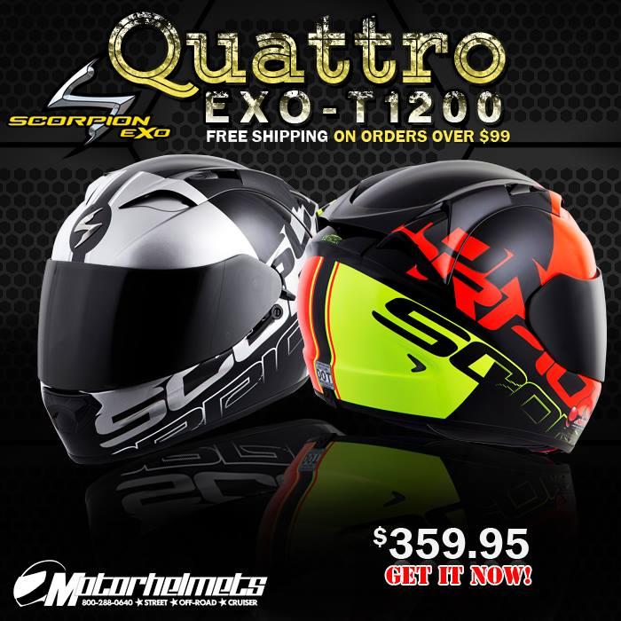 Scorpion Quattro EXO-T1200 Sports Bike Helmet