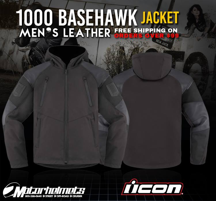 Icon 1000 Basehawk Men's Leather Jacket