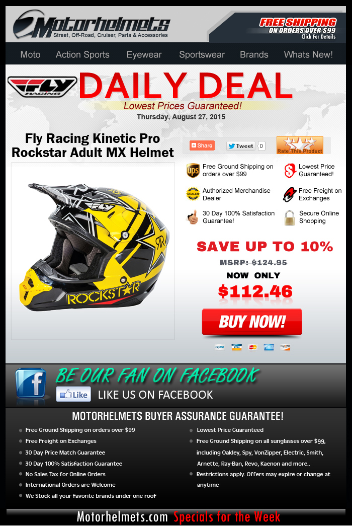 Introducing the Kinetic Pro Rockstar Adult Helmet from FLY at 10% Off!