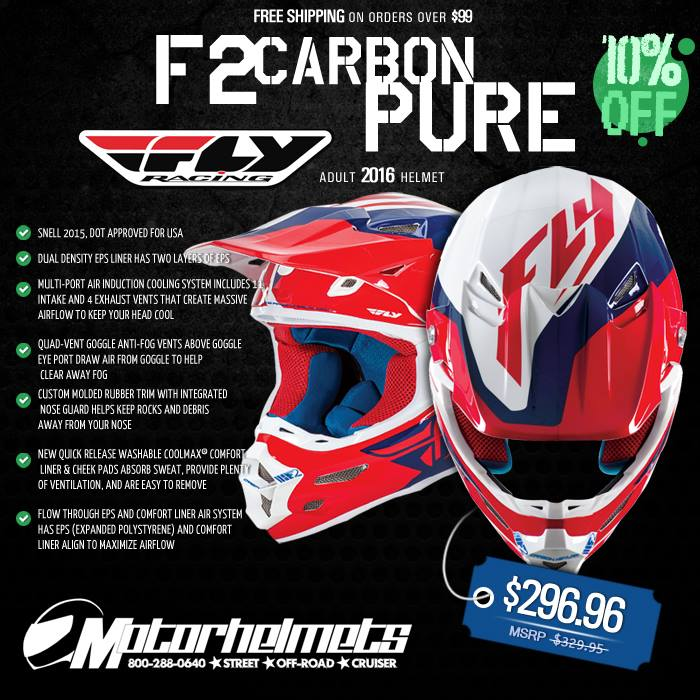 Fly Racing F2 Carbon Pure Adult Helmet