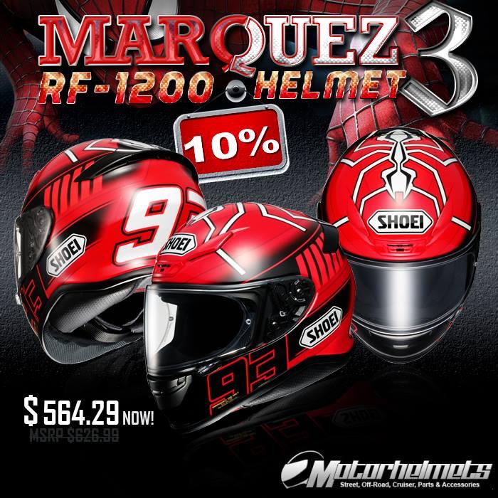 Shoei Marquez 3 RF-1200 Sports Bike Helmet
