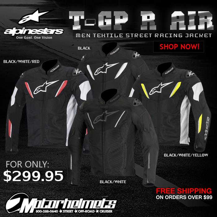 Alpinestars T-GP R Air Men's Textile Sports Racing Motorcycle Jacket