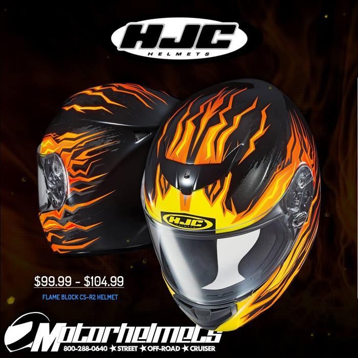 HJC Flame Block Men's CS-R2 Helmet