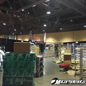 building the booth