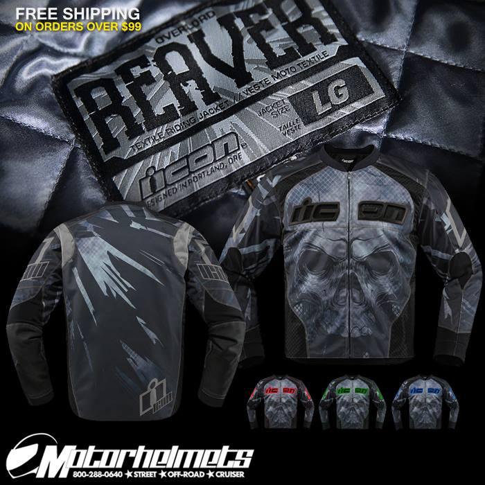 icon overload reaver textile jacket