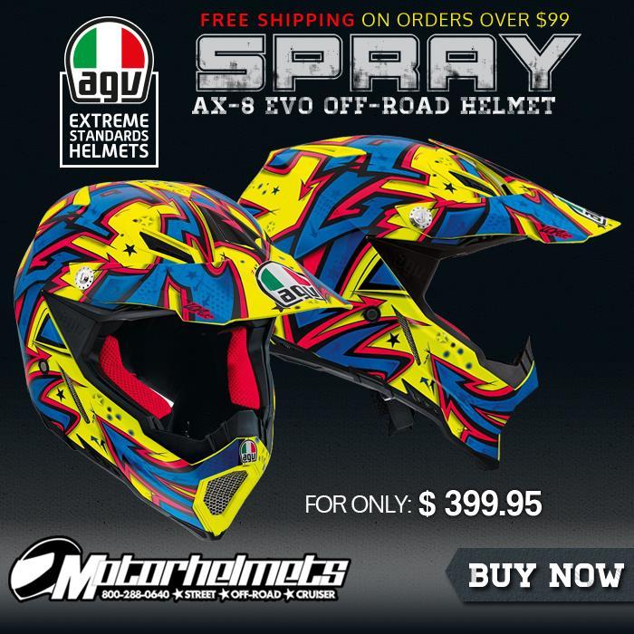 AGV Spray AX-8 EVO Off-Road Motorcycle Helmet