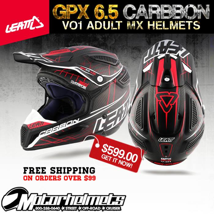 Leatt GPX 6.5 Carbon V01 MX Helmet