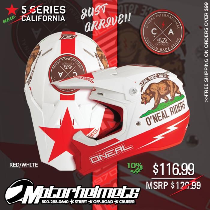 O'Neal Racing 5 Series California Men's Helmet