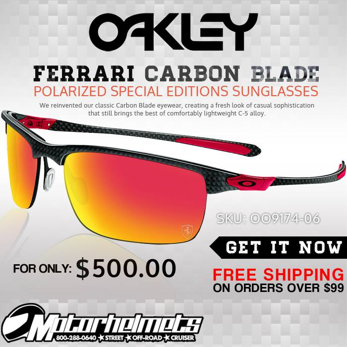 Oakley Ferrari Carbon Blade Men's Polarized Special Editions Sunglasses