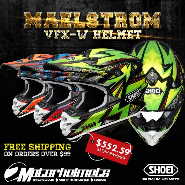 Shoei Maelstrom VFX-W Motocross Helmet.