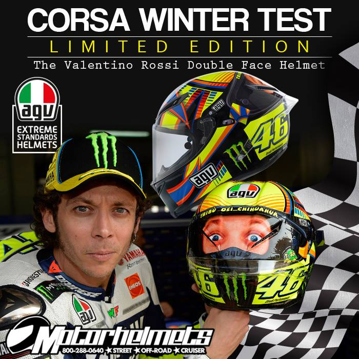 AGV Corsa Double Face Winter Test LE Rossi Helmet