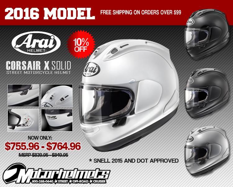 Arai Solid Corsair X Motorcycle Helmet
