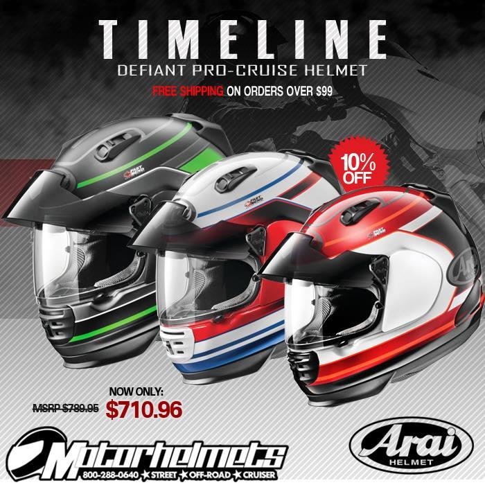 Arai Timeline Defiant Pro-Cruise Helmet