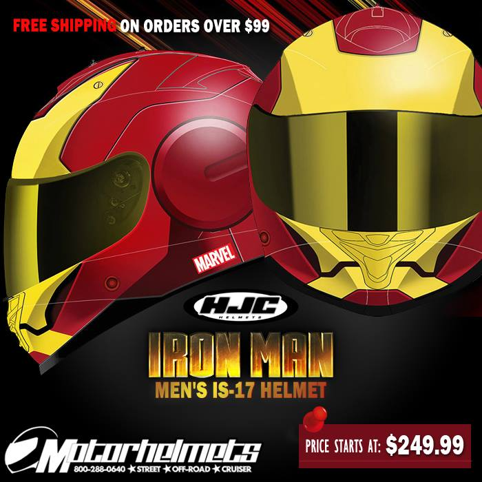 HJC Iron Man Men's IS-17 Helmet