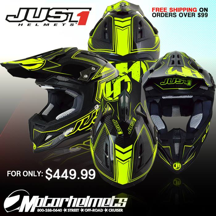 Just 1 Carbon Fluo Adult J12 Helmet