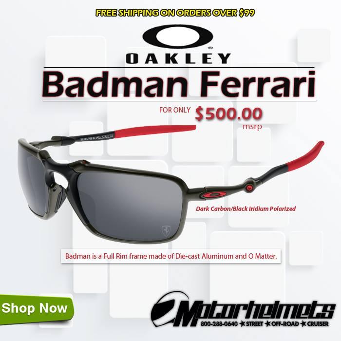 Oakley Badman Ferrari Men's Sunglasses