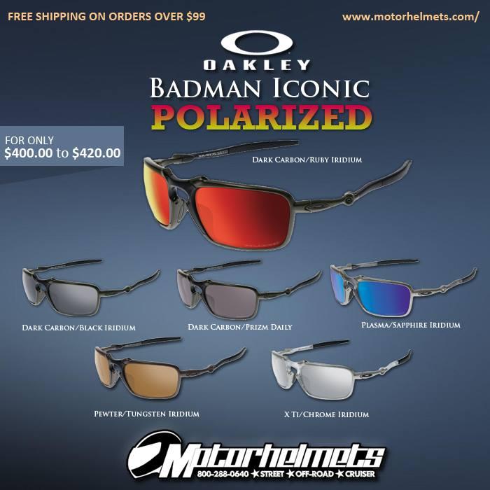 Oakley Badman Iconic Polarized Sunglasses