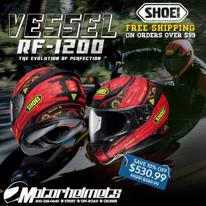 shoei RF-1200 vessel tc-1 helmet