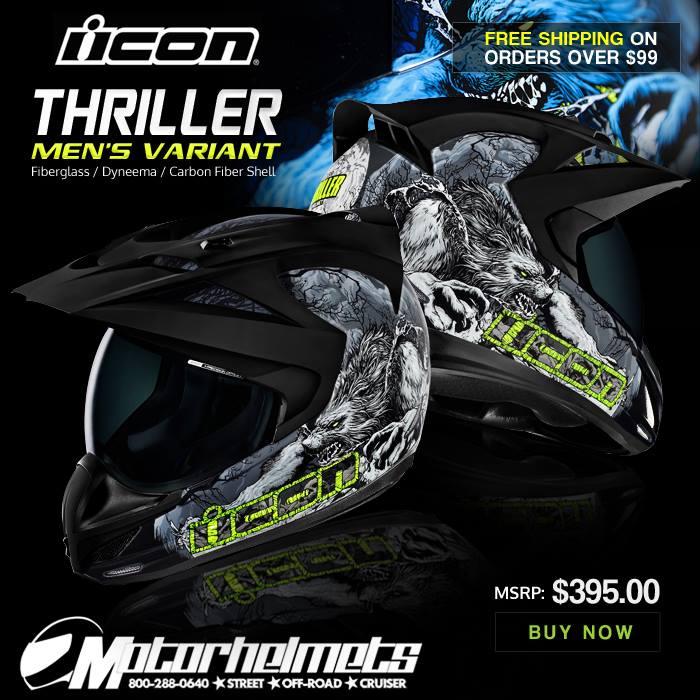 Icon Thriller Men's Variant Sports Bike Motorcycle Helmet