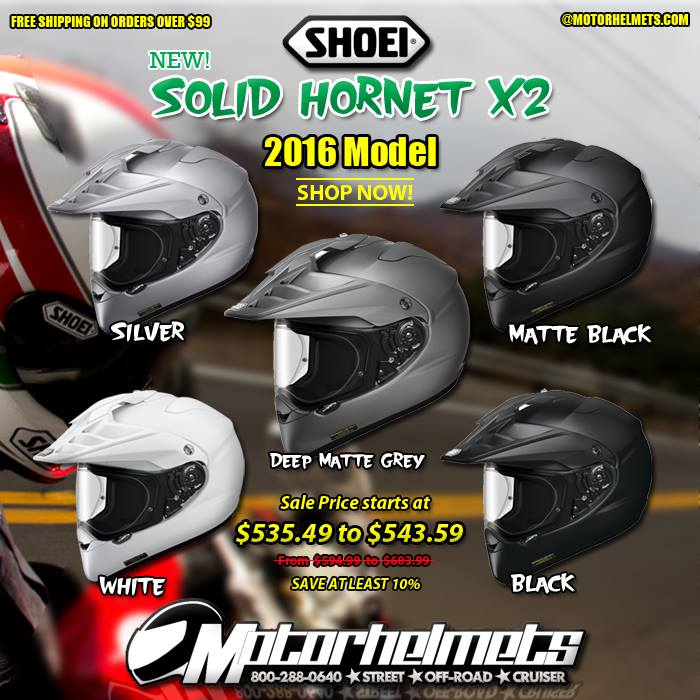 Shoei Solid Hornet X2 Off-Road Helmet