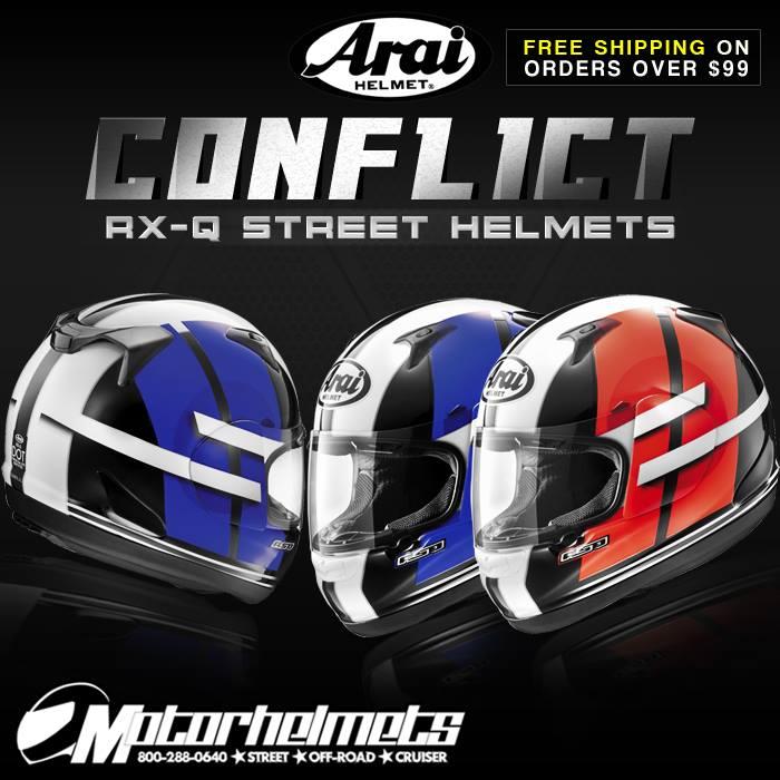 Arai Conflict RX-Q Street Racing Helmet