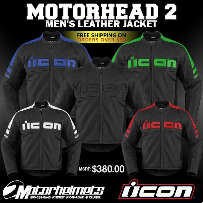 Icon Motorhead 2 Men's Leather Jacket