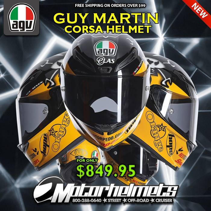 AGV Guy Martin Corsa Street Motorcycle Helmet