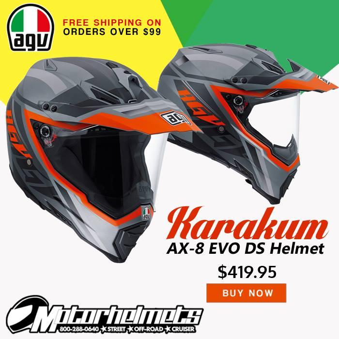 AGV Karakum AX-8 EVO DS Off-Road Motorcycle Helmet