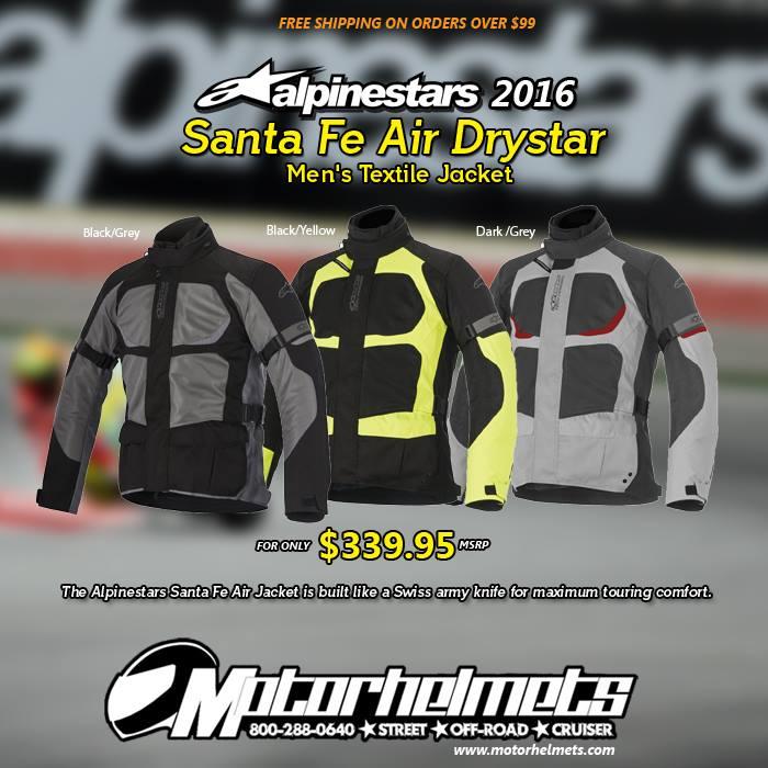 Alpinestars Santa Fe Air Drystar Men's Textile Jacket