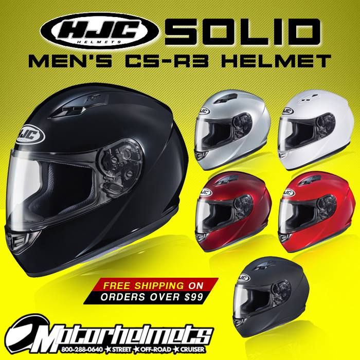 HJC Solid Men's CS-R3 Motorcycle Helmet