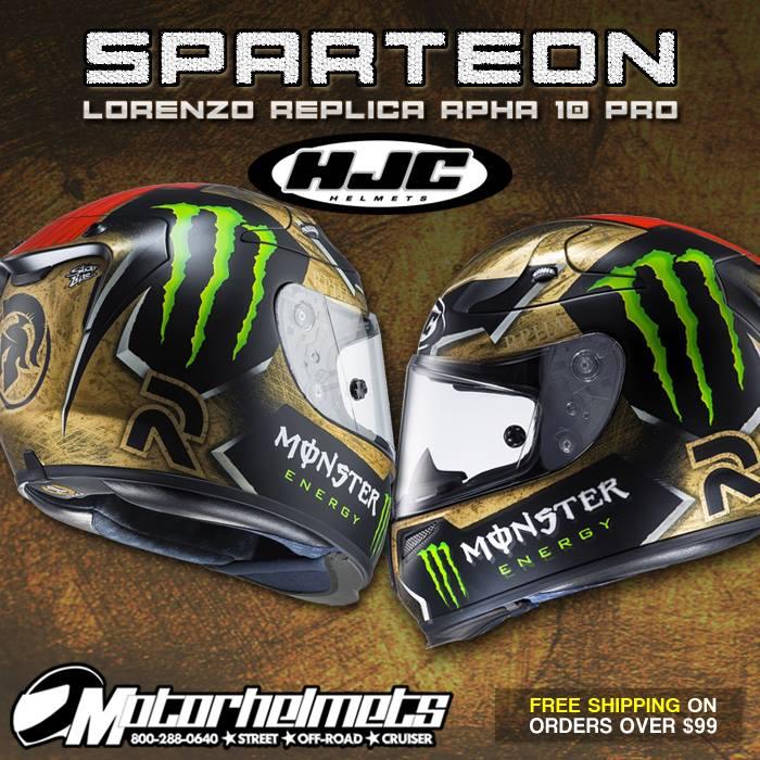HJC Sparteon Lorenzo Replica Men's RPHA 10 Pro Helmet