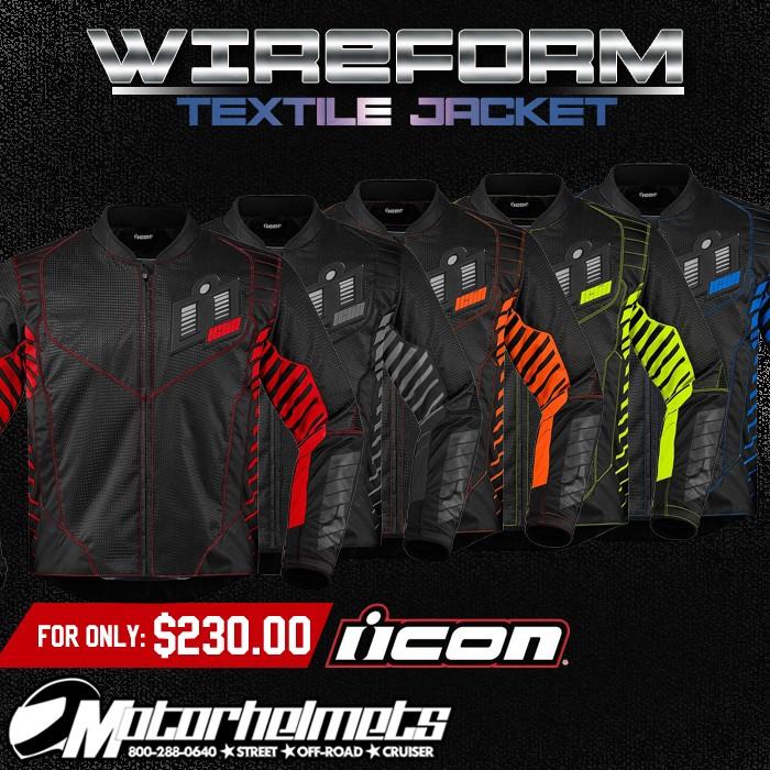 Icon Wireform Men's Textile Jacket