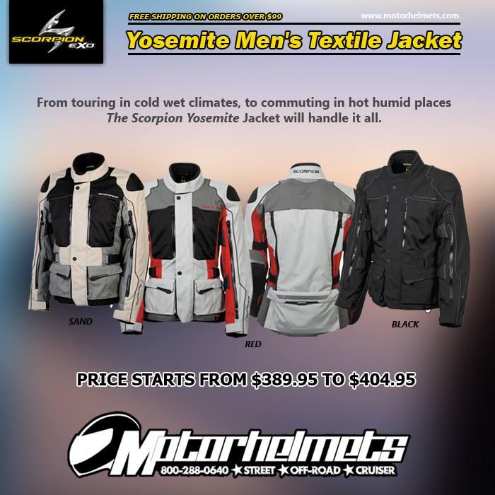 Scorpion Yosemite Textile Street Motorcycle Jacket