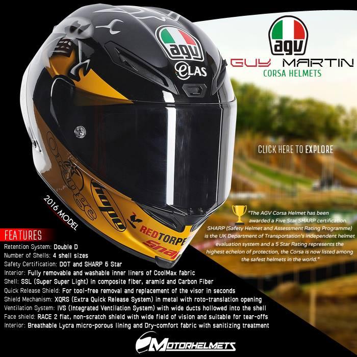 AGV Guy Martin Corsa Helmets