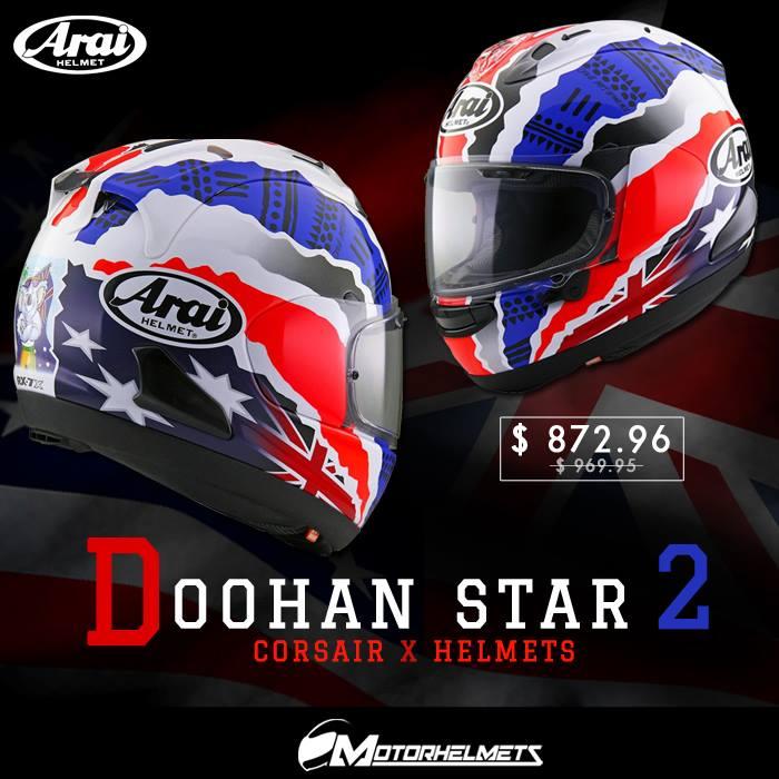 Arai Doohan Star 2 Corsair X Helmets