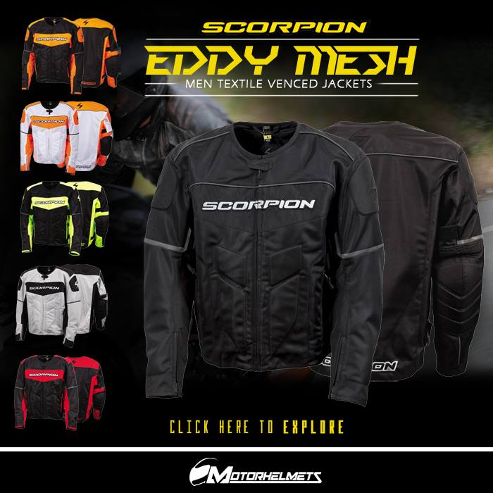 Scorpion Eddy Mesh Men's Textile Vented Jackets